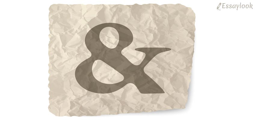 Ampersand on the Paper